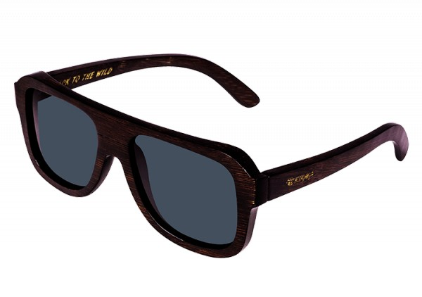 """Pilot"" Brown Dyed Bamboo Wood Sunglasses"