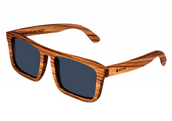 """Square"" Zebrawood Sunglasses"