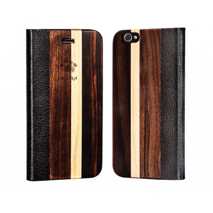 """Flip"" Walnut, Maple and Ebony Iphone 4/4S Case"