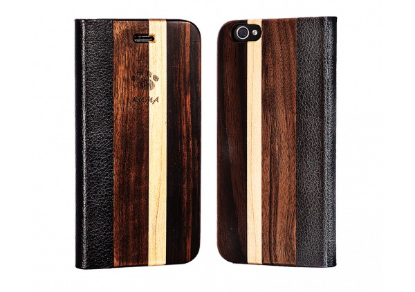 """Flip"" Cherrywood Iphone 5/5S Case"