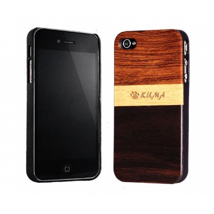 """Mix"" Coque Bois Noyer & Erable iPhone 4/4S"
