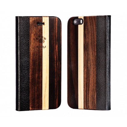 """Flip"" Walnut, Maple and Ebony Iphone 5/5S/SE Case"