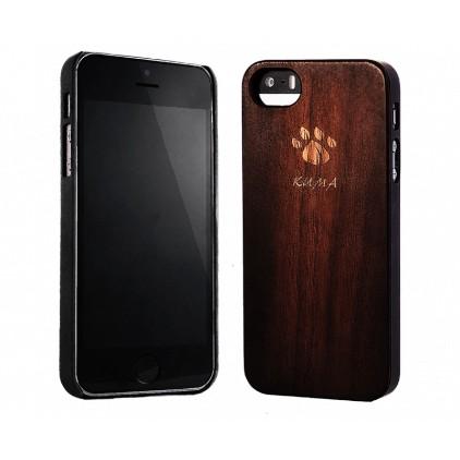 """""""Classic"""" Coque Bois Noyer Vintage iPhone 5/5S/SE"""