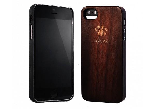 """Classic"" Coque Bois Noyer Vintage iPhone 5/5S"