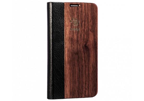 """Flip"" Coque Bois Noyer Galaxy S5"