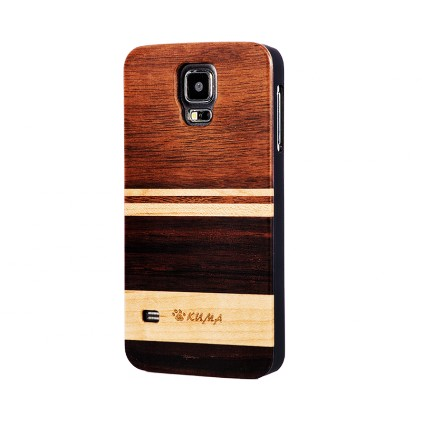"""Mix"" Coque Bois Noyer & Erable Galaxy S5"