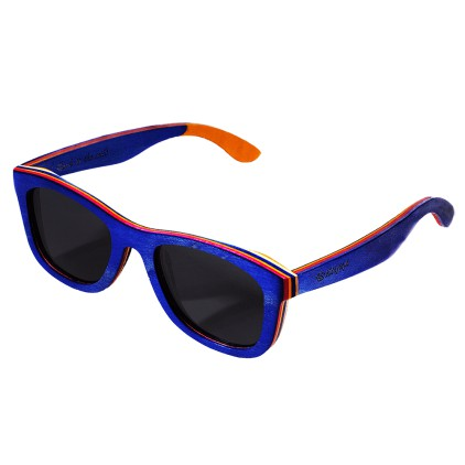 """Timeless"" Blue Dyed Maple Sunglasses"