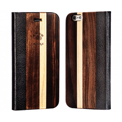 """Flip"" Wooden Cases Walnut, Mapple and Ebony Iphone 7/8 PLUS"