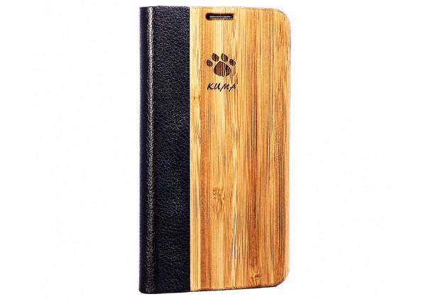 """Flip"" Coque Bois Bamboo Galaxy S6edge"