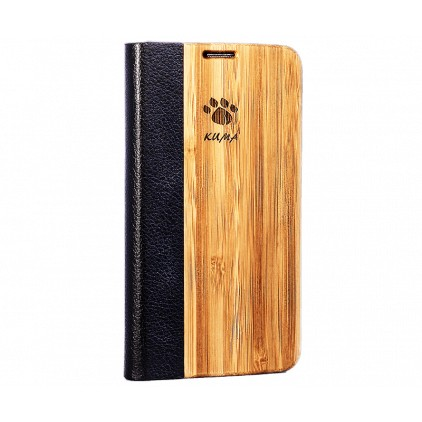 """Flip"" Coque Bamboo Galaxy S7 edge"