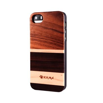 """""""Mix"""" Coque Bois Noyer & Erable iPhone 7/8"""