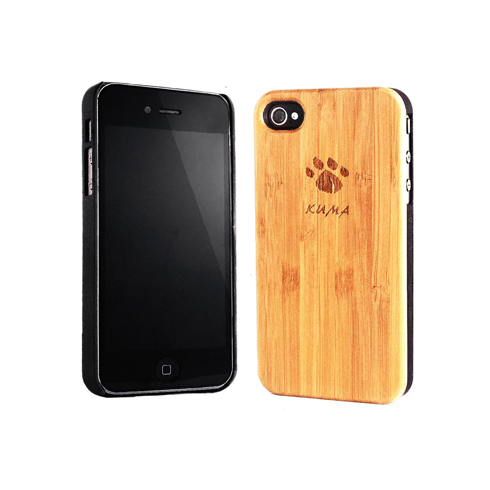 wooden iphone case quot classic quot bamboo wood iphone 4 4s kuma 7750