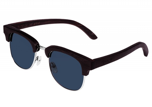 """""""Timeless"""" Brown Dyed Maplewood Sunglasses"""