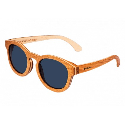 """Round"" Teak and Maplewood Sunglasses"