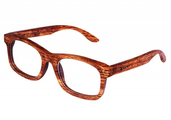 """Timeless"" Brown Dyed Maplewood Sunglasses"