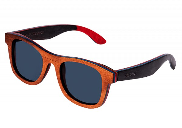 """Wayfarer"" Brown Dyed Maplewood Sunglasses"